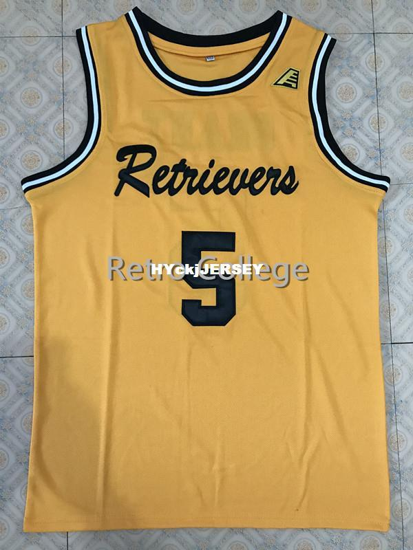 timeless design f1d9c 53278 UMBC Retrievers 5 Jourdan Grant Retro college Top stitched basketball  jerseys Customize any number and name XS-6XL vest Jerseys NCAA