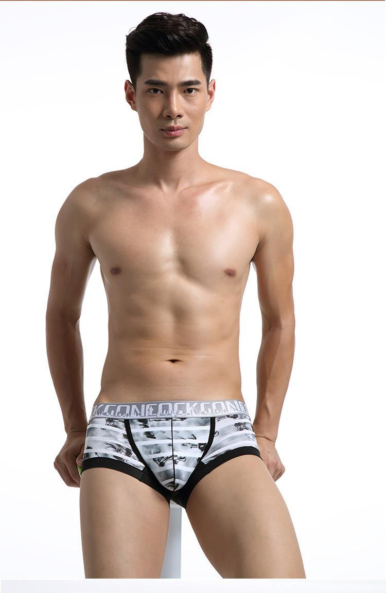Wholesale-Hot sale sexy mens underwear U convex cotton Black men's boxers bamboo fiber cotton men's underwear pant for men Shorts 3 pcs/lot