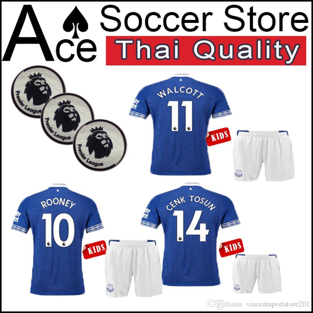 18 19 Everton Indigo Hogar Niños PERSONALIZAR 2018 2019 Camiseta De Fútbol  4 KEANE 11 Walcott 10 Camisetas De Fútbol ROONEY Por Vincentsportstore201 fa0e5542ac895
