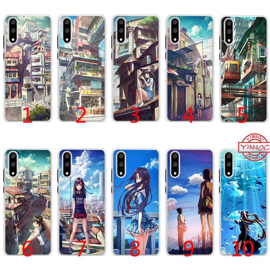 Satın Al Japon Anime Boyama Yumuşak Silikon Telefon Kılıfı Için