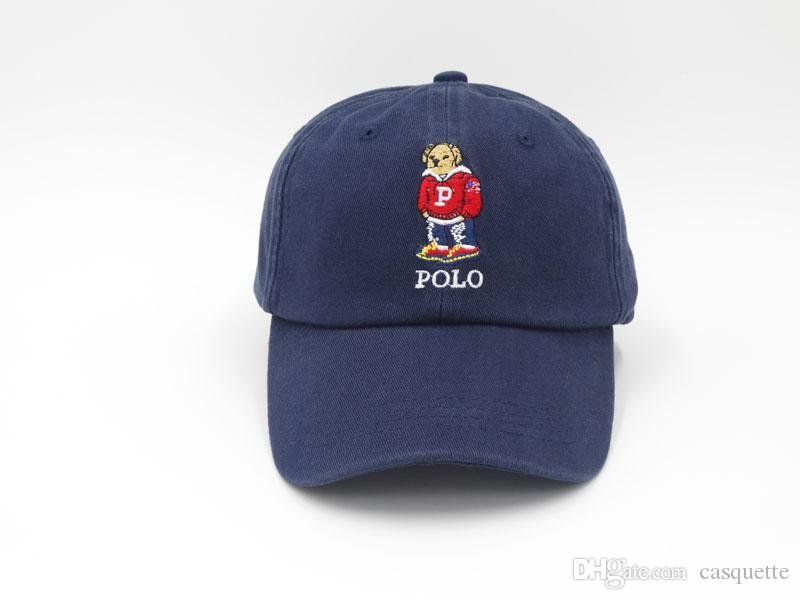 84d9395730096 Dhl Polo Bear Hats For Men Hip Hop Snapback Caps Visor Casquette