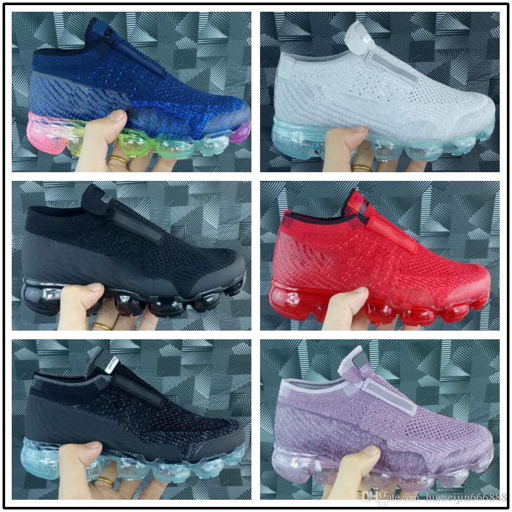 nike air max airmax vapormax 2019 Triple Black Infant Sneaker Laceless Kinder Laufschuhe Rainbow Kinder Sportschuhe Mädchen und Jungen Tennisschuhe