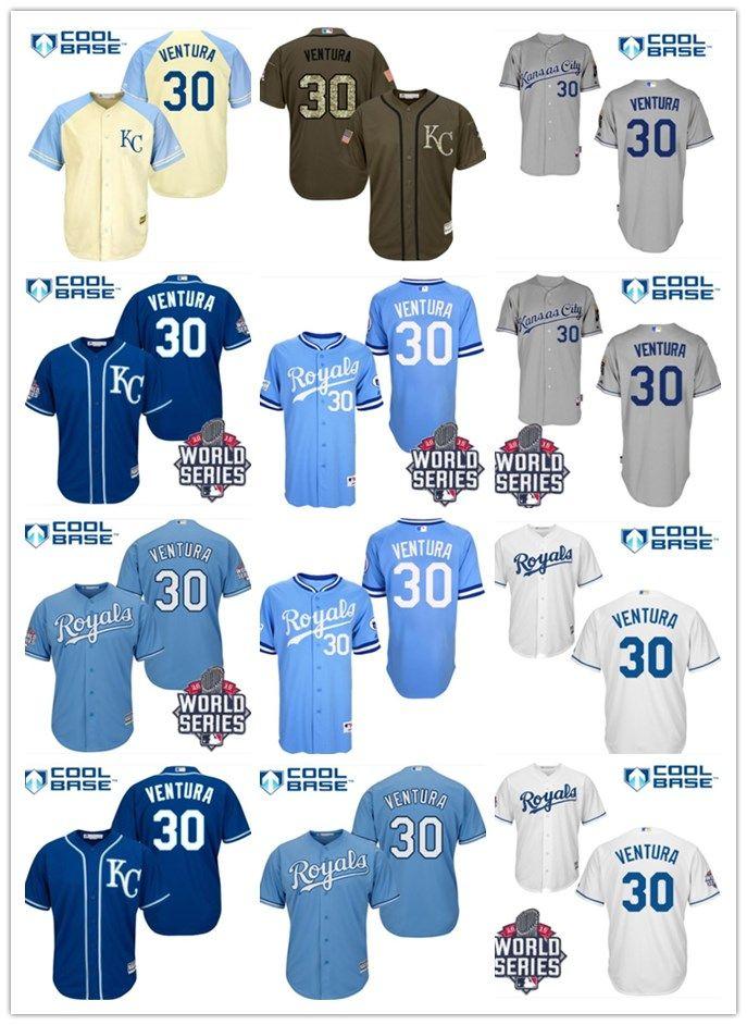 timeless design bade7 b7126 2018 Kansas City Royals Jerseys #30 Yordano Ventura Jerseys  men#WOMEN#YOUTH#Men s Baseball Jersey Majestic Stitched Professional  sportswear