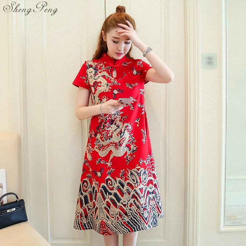 V986 De Diseño Estilo 2018 Chinos Vestido Tradicional Nuevo Orientales Oriental C18122701 Chino Vestidos SzVpjqLUMG