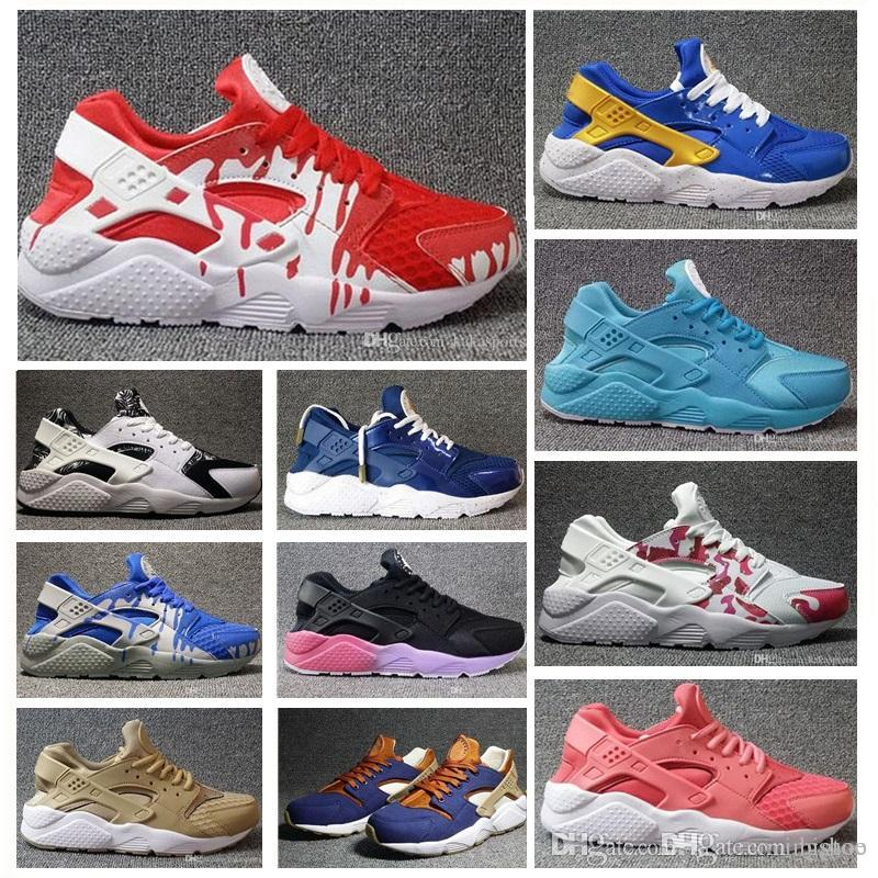 268015f7fbac 2019 2019 Available 2018 Huarache ID Custom Breathe Casual Shoes For Men  Women Men Navy Blue Tan Huaraches Casual Shoes Huraches From Bigtoo