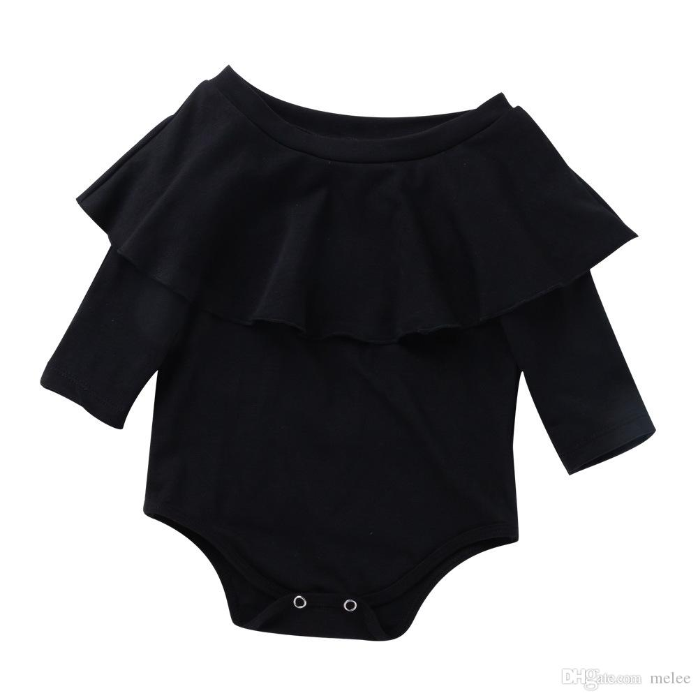 c343a7f18 2019 Lotus Leaf Collar Bodysuit Baby Girl Clothes Baby Girl Onesie  Bodysuits Baby Bodysuit Infant Black & White Rompers 100% Cotton From  Melee, ...