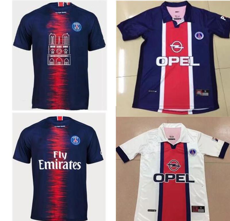 4cf29e208d7 2019 1998 Psg White RETRO Soccer Jerseys Paris Notre Dame Jersey 2019 20 Psg  Notre Dame Football Kit Soccer Shirt From Outletsmeteor
