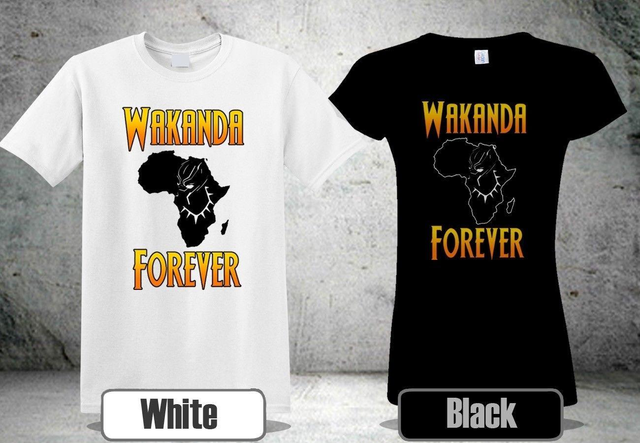 cca868ebb Black Panther Wakanda Forever T Shirts Men'S Women'S Cool Shirt 4free  Shipping Unisex Casual Tshirt Tees Shirts T Shirt Site From Fightershop, ...
