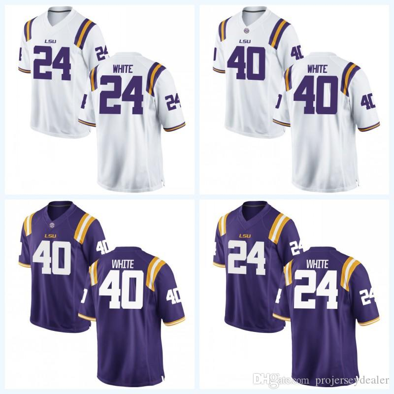 new product 30cc8 d7de9 40 Devin White LSU Tigers NCAA College Football Jersey 24 Devin White For  Mens Womens Youth Double Stitched Name & Number & Logos