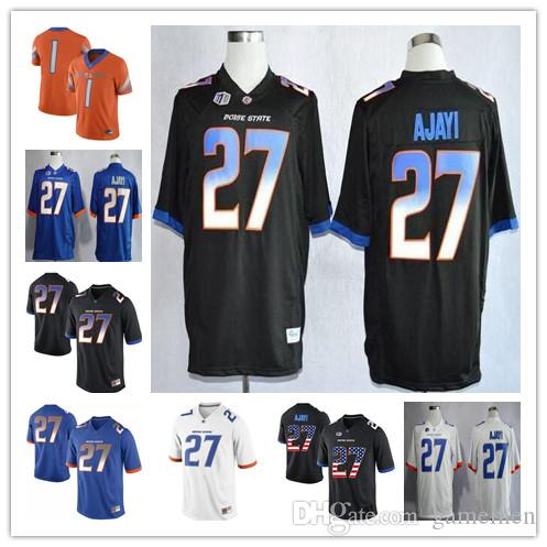 38a2b3bb267 Custom Boise State Broncos College Football #27 Jay Ajayi 22 ...