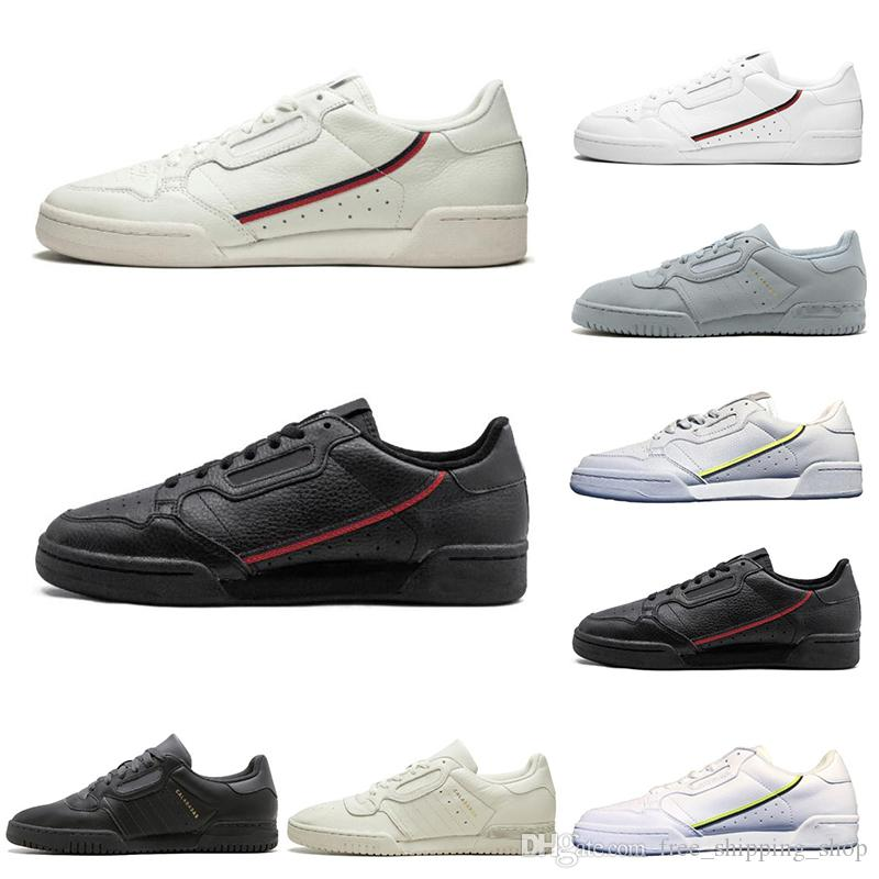 Nuevo Calabasas Powerphase Grey Continental 80 Zapatos casuales Kanye West Aero blue Core black OG white Hombres mujeres Skateboard Sports Sneakers