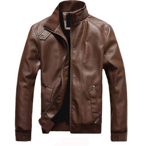 9fd62761360 2019 Man Leather Jackets Winter Waterproof Coat Fashion Quality ...
