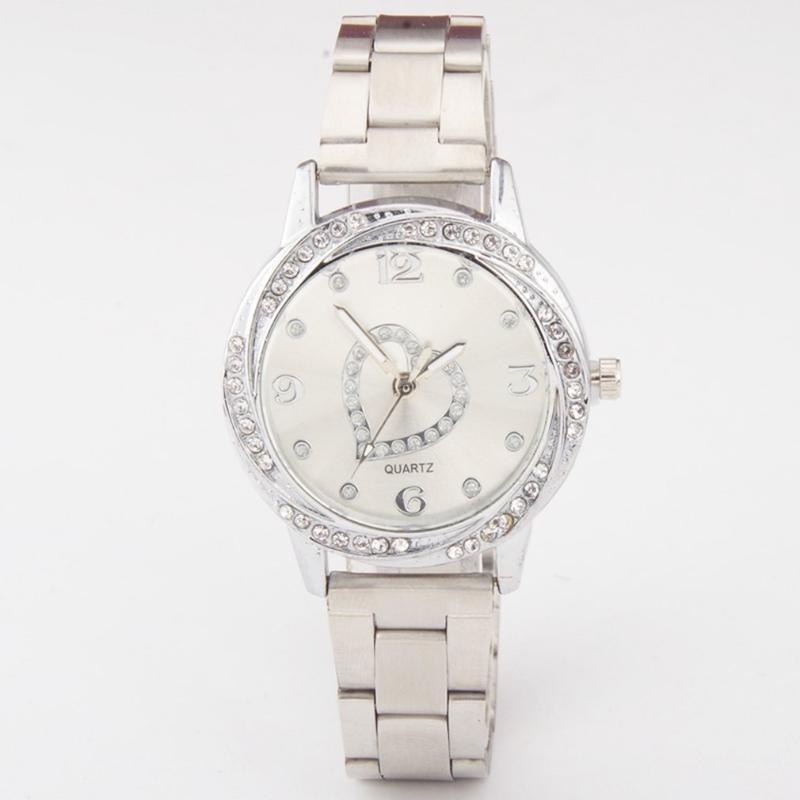 Luxury rhinestone stainless steel strap ladies quartz watch elegant women dress watch for women