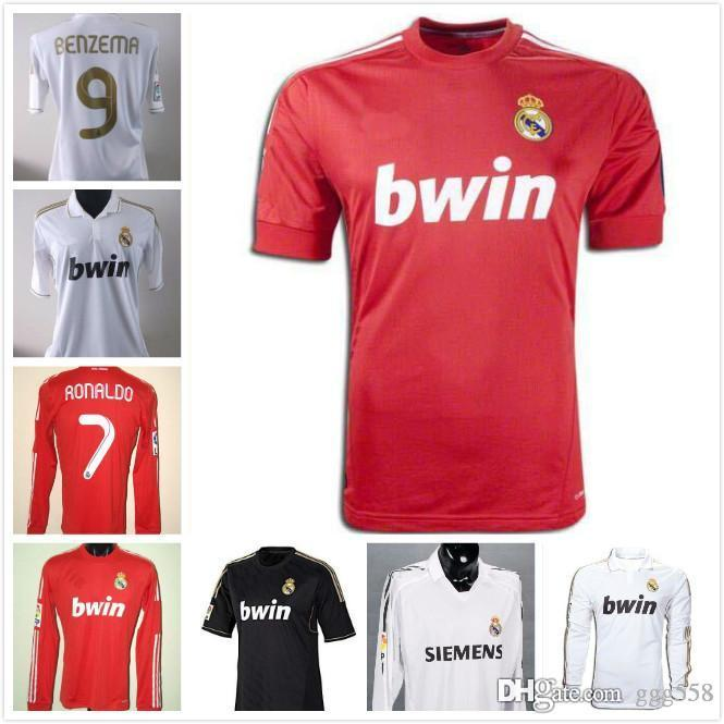 c5bdd681e 2019 2011 2012 Real Madrid Soccer Jersey 11 12 Retro Jersey Home Away  Champion League RAMOS KAKA RONALDO BENZEMA ALONSO Classic Shirt From  Ggg558