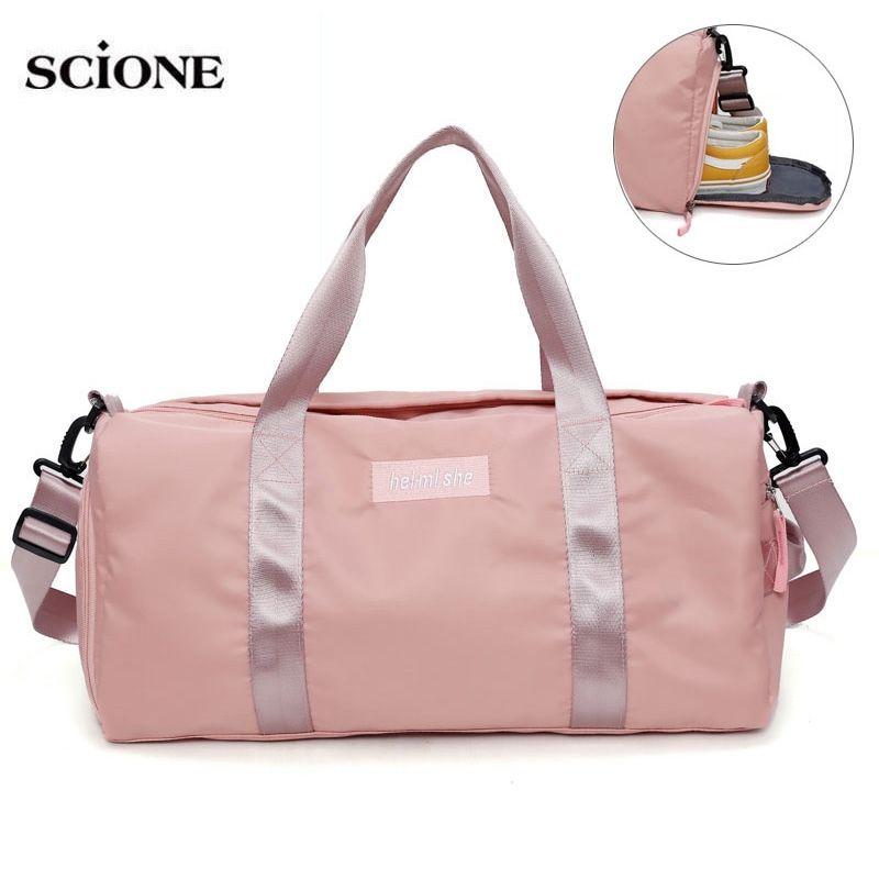 dc1cd02d3e Yoga Mat Bag Fitness Gym Bags Dry Wet Tas Handbags For Women Men Shoes  Travel Training sac De Sport Pink gymtas Duffel XA545WA #815593