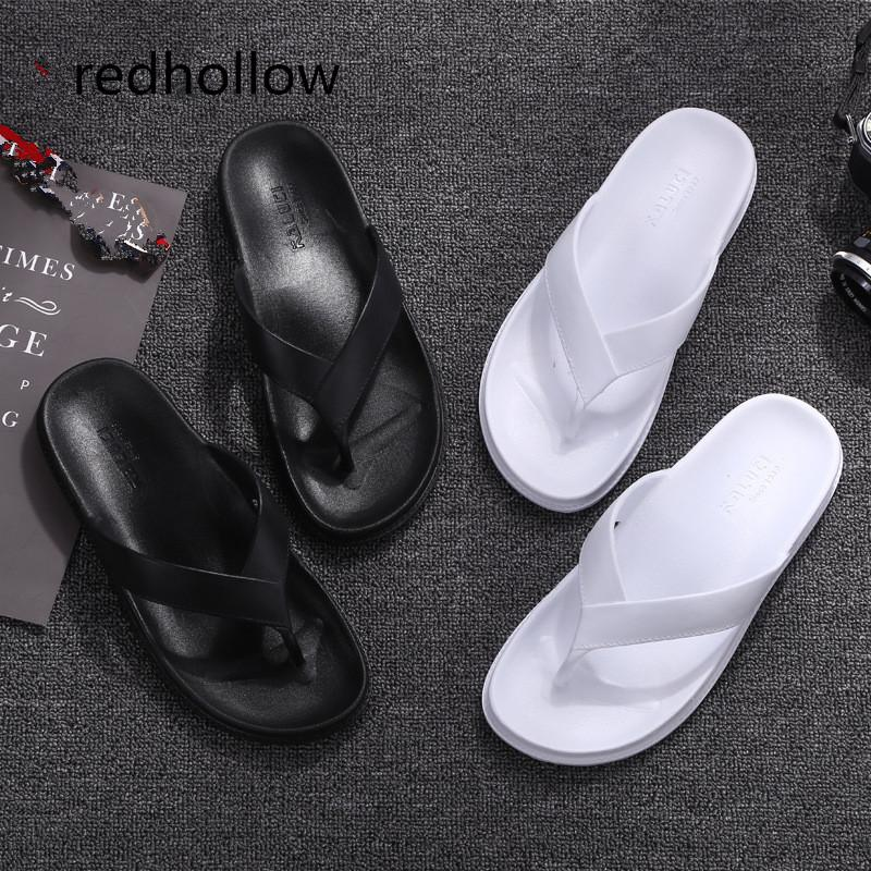 10537a840 Men Slippers Summer Beach Sandals Flip Flops Slippers Flat Slip On Casual Indoor  Outdoor Home Bathroom Shoes For Men Wedges Shoes Leather Boots From Gaoshoe  ...