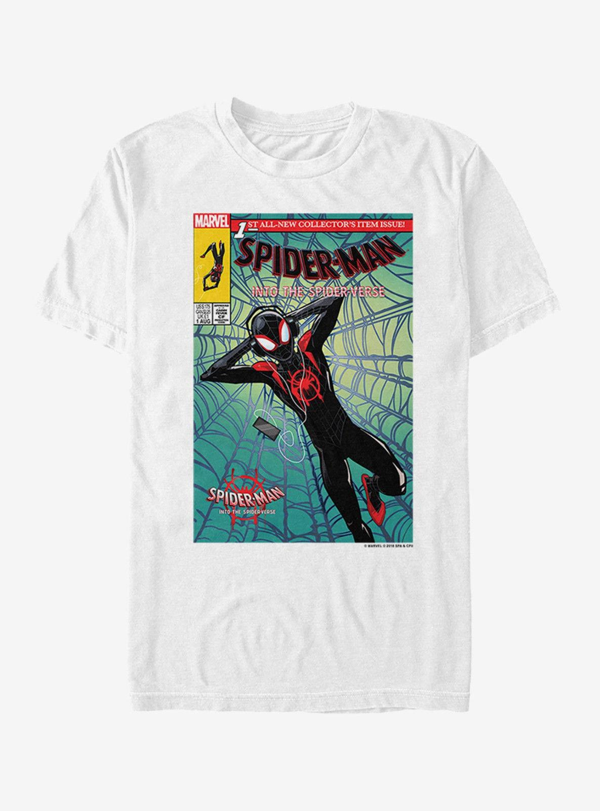 69c9f44087d92 Marvel Spider Man: Into The Spider Verse Miles T Shirt Size US Large Pre  Order Men Women Unisex Fashion Tshirt T Shirts For Sale Printed T Shirt  From ...