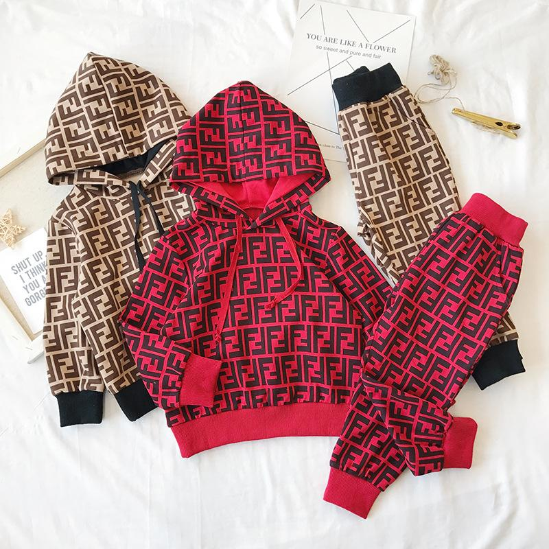 2018 Autumn And Winter New Pattern Trend Male Girl Motion Leisure Time Easy Fashion Suit kids clothing