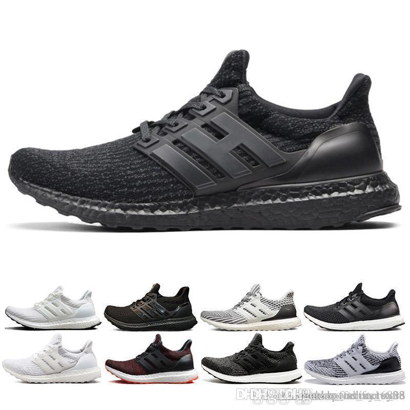 f9308befbaa5d New 2019 Ultra Boost 3.0 4.0 Triple Primeknit Oreo Blue Running Shoes Men  Women 3.0 Hypebeast Sports Shoes Size 36 45 Black Shoes Wholesale Shoes  From ...