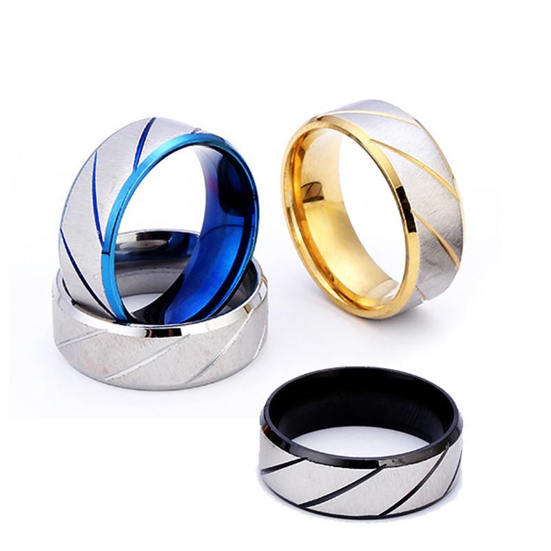 50 pcs Never fading 316L Stainless steel Ring For Women Mens Engagement WeddingJewelry