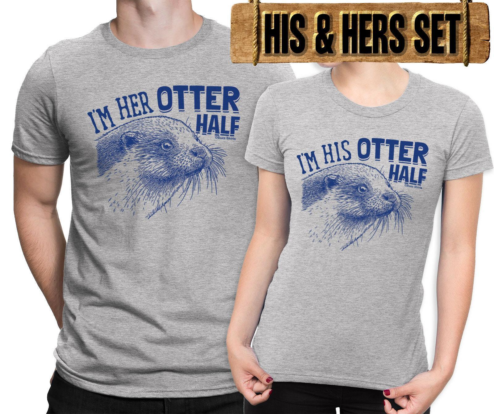 4ccc74994 IM HIS HER OTTER HALF Mens Ladies Matching Couples T Shirt Valentines Day  Men Women Unisex Fashion Tshirt Interesting T Shirt Designs T Shirts Cool  Designs ...