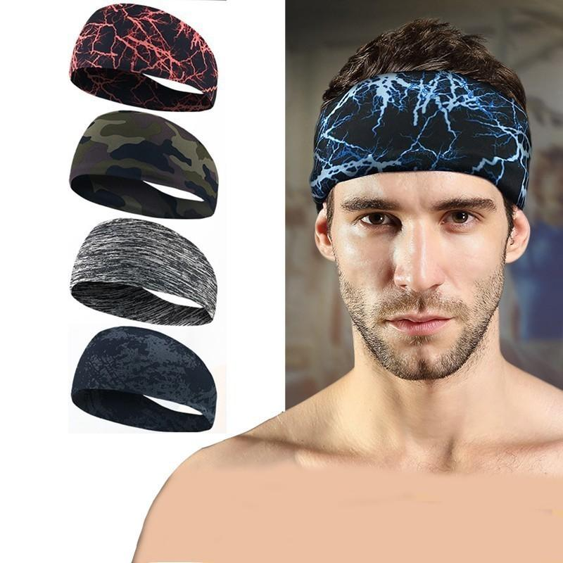 2019 Sport Sweat Headband Elastic Sweatband For Men And Women Fitness Yoga  Hair Bands Head Sweat Bands Gym Sports From Shinyday b62200e2f00