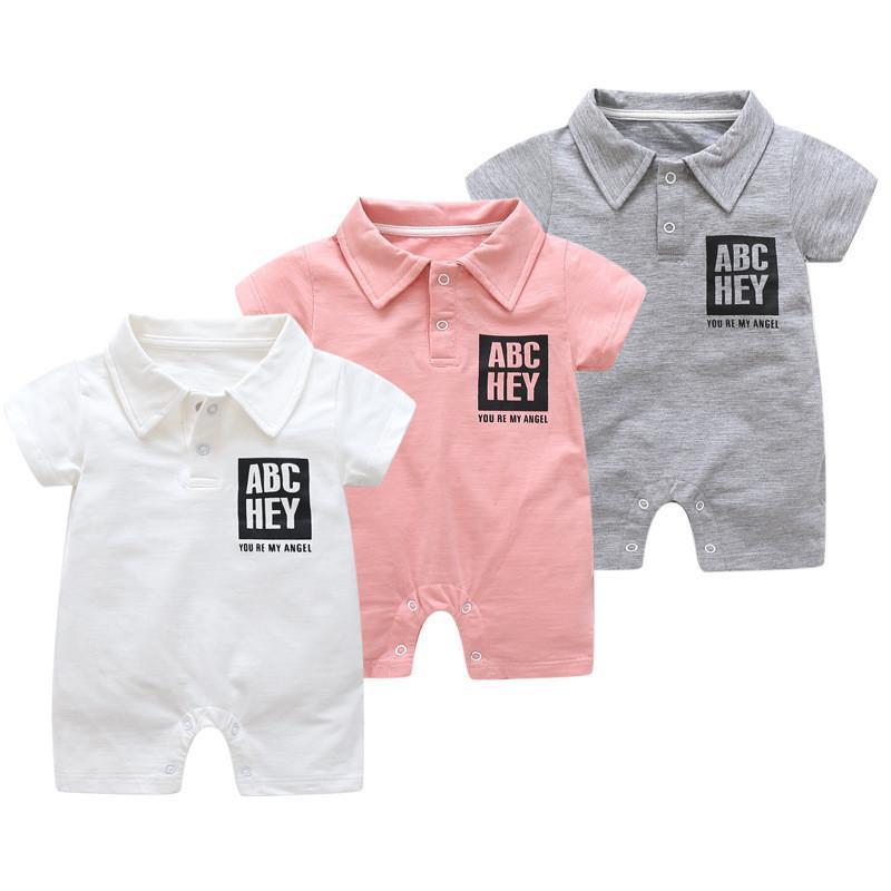 c2a09675b Compre 2019 Bebé Escalada Bebé Infantil Bebé Mono Verano Niños Niñas  Algodón Manga Corta Ropa De Una Sola Pieza Pijamas Para Niños Ropa A  24.42  Del ...