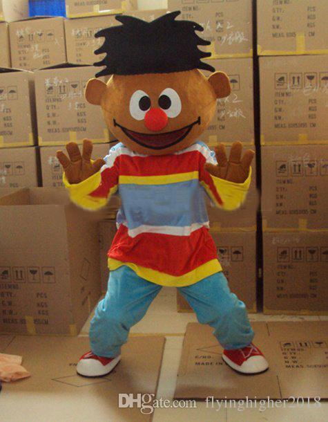 Professional custom ernie Mascot Costume Cartoon the original street Character Clothes Christmas Halloween Party Fancy Dress