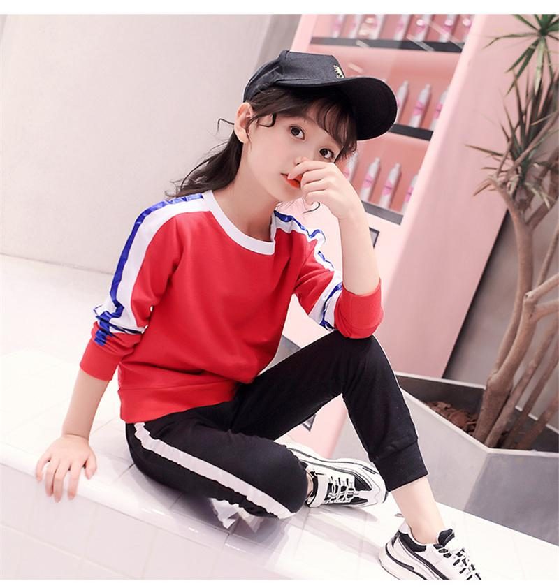 4c5af20541aa 2019 Tracksuit For Girls Fashion Cotton Kids Clothes Two Piece ...
