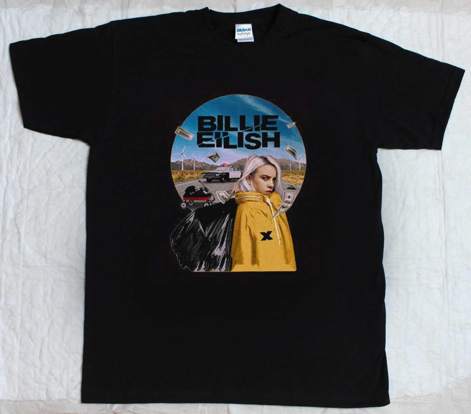 f9d9de57 New Limited Billie Eilish 1 By 1 Tour 2018 2019 Tee Tshirt S 3XL Coolest T  Shirts T Shirt Cool From Space84, $11.48| DHgate.Com