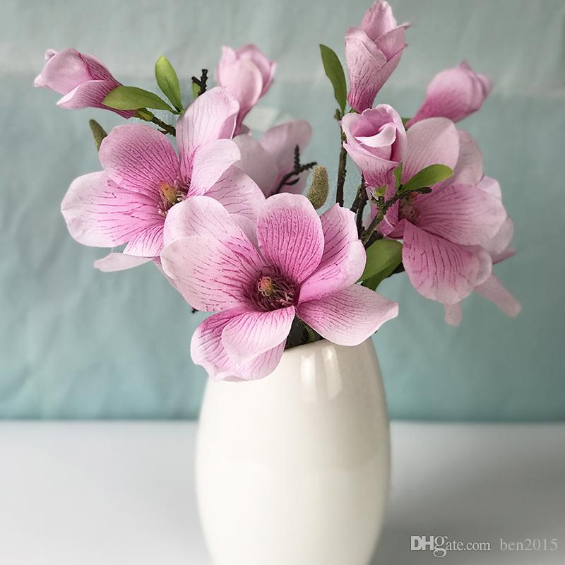 Artificial Magnolia Silk Flower Branch Fake Flower Fleur