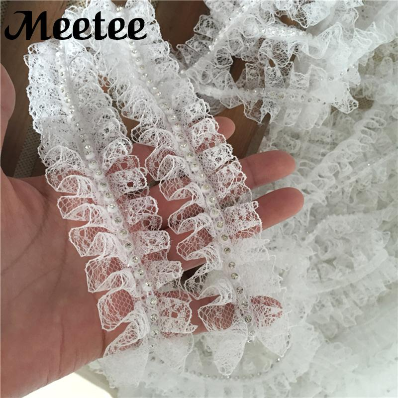 2019 5Yards KY2074 White Rhinestone Lace Trim Ribbon Clothing Curtain Lace  Fabric DIY Sewing Trims Collar Garment Skirt Accessories From Qingtongzhi 24ab66d993e8