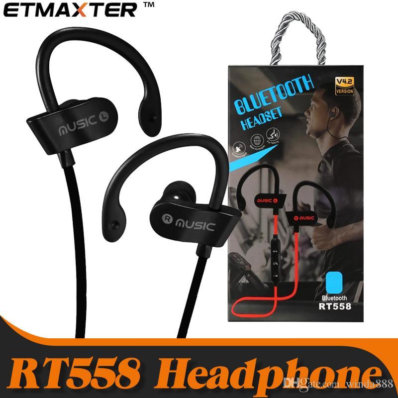 52b5939e672 Cost Effective Headphones RT558 Sweatproof Sport Earbuds Wireless Bluetooth  Earphones For IPhone X Xs Max 7 8 Samsung Galaxy Note 9 Wireless Cell Phone  ...