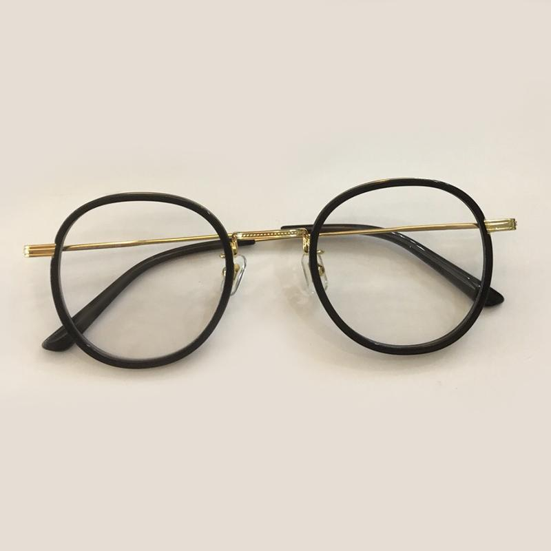 8235061451 2019 New Round Clear Lens Glasses Retro 2019 Metal Frame Eyeglasses ...