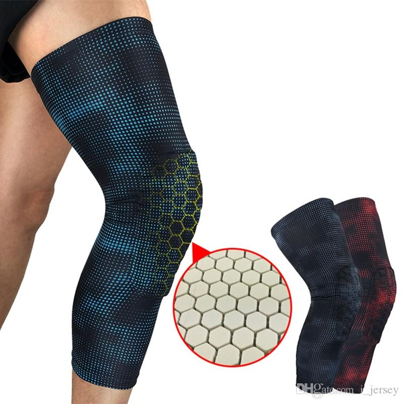 7fc411f98b 2019 Sports Basketball Padded Leg Sleeve Knee Pad Protector Anti Slip  Honeycomb KneePad Youth Volleyball Football Wrestling Crossfit #146770 From  I_jersey, ...