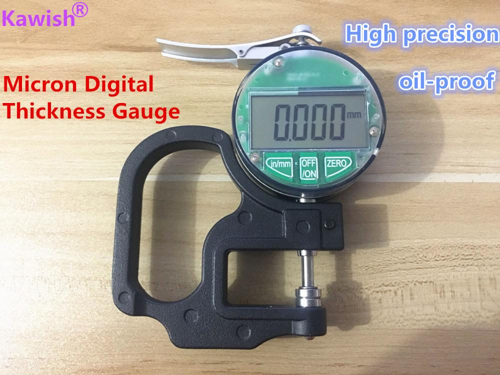 New!oil proof Micron Digital Thickness Gauge 0-12 7mm 0 001mm thickness  tester meter paper film leather thickness measuring tool
