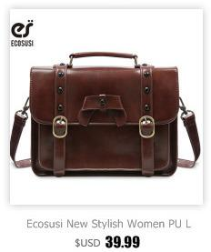 Ecosusi Women Messenger Bags Stylish PU Leather Shoulder Bags Casual Vintage Handbag for Girls School Satchel Bag for Teenagers