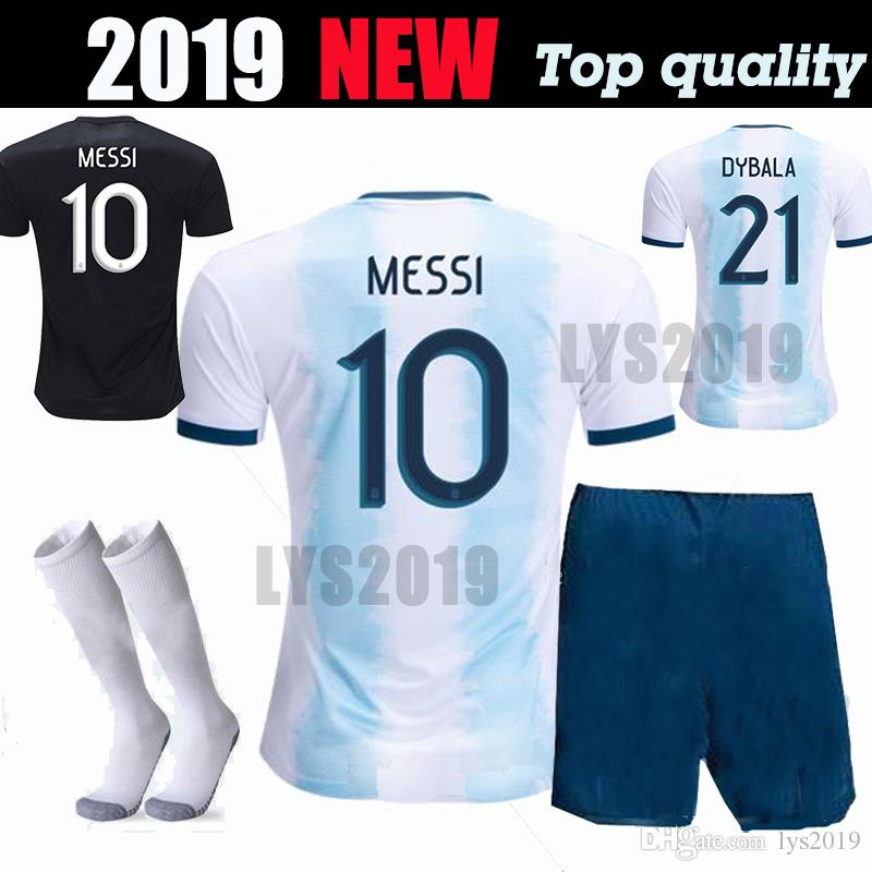 656eccd6dee Adult Kit New 2019 Argentina Soccer Jersey Men Full Sets Copa ...