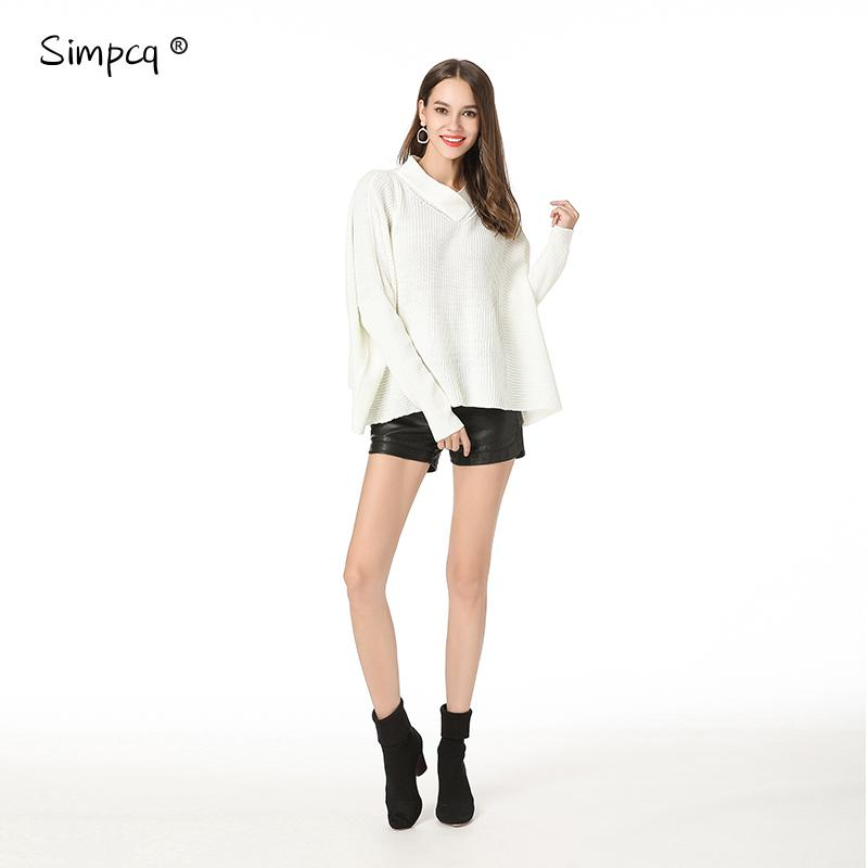 bd4c9dcd6 2019 Pullover Poncho Shrug Top Full New Autumn Winter Elastic Sleeve Woman  Knitted Sweater Warm Racing Stripes Loose Tops Zj051 From Hongxigua, ...