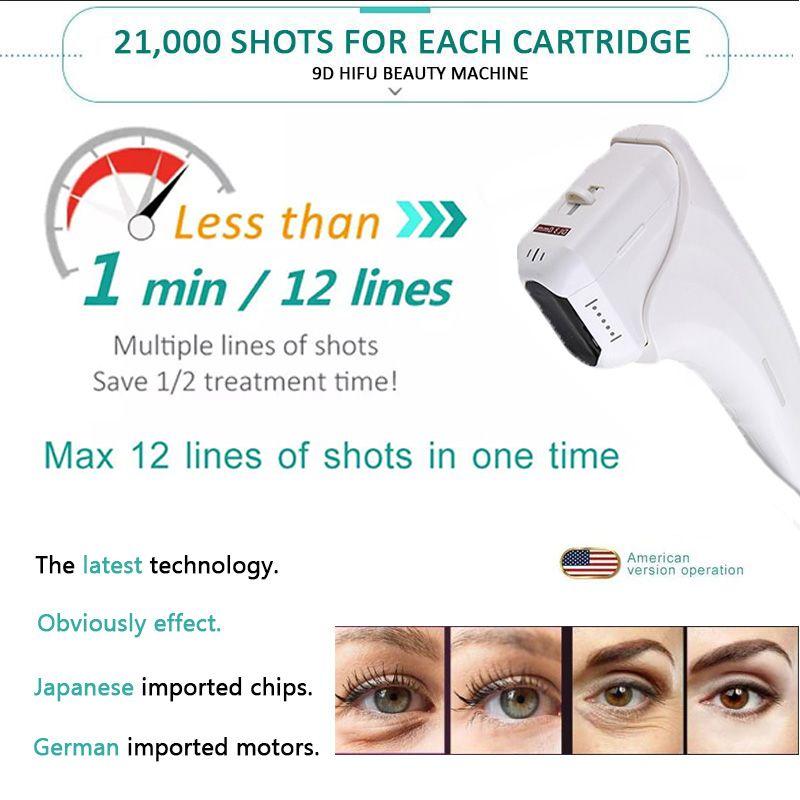 9D HIFU Ultrasound Facial lift hifu wrinkle removal face lift wrinkle remova intensity focused ultrasound beauty equipment