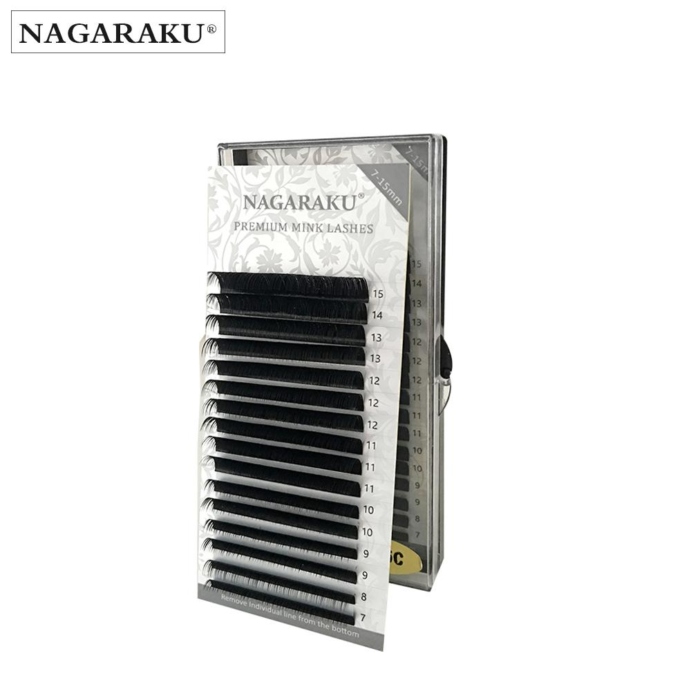 ed90463e065 NAGARAKU 16rows/Case 7~15mm Mix Premium Natural Synthetic Mink Individual  Eyelash Extension Makeup Maquiagem Cilios D19011701 Eyelash Tint Lash Bar  From ...