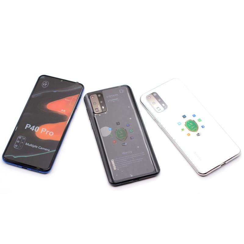 Telemóveis desbloqueado Goophone P40 Pro 6.5inch Android real 1GB RAM de 8 GB ROM Mostrar 8GB + 128GB Mostrar 4G LTE 5G 16MP 3G WCDMA