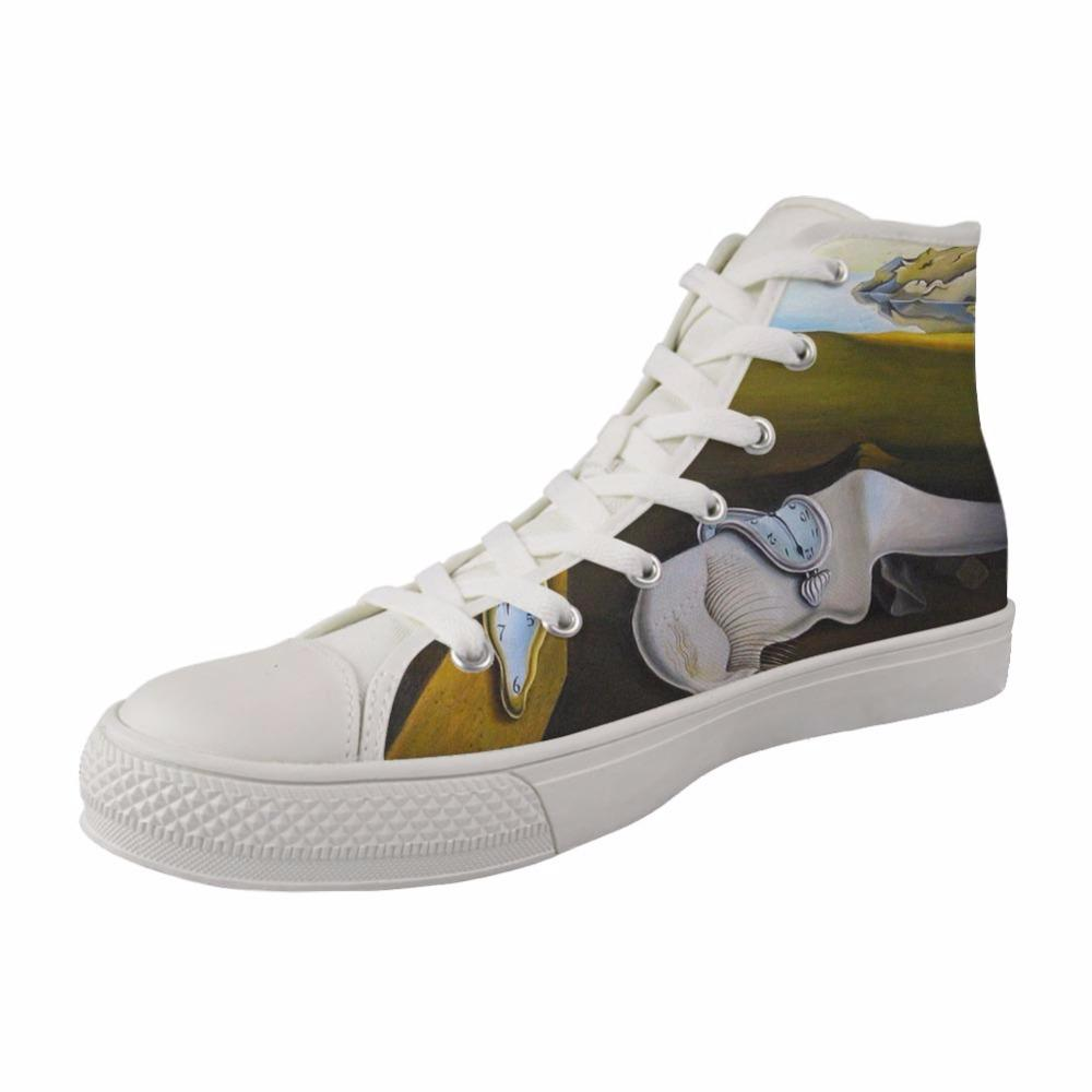 d2a86b6caf3d Women High Top Canvas Vulcanized Fashion Style Shoes Girls Female ...