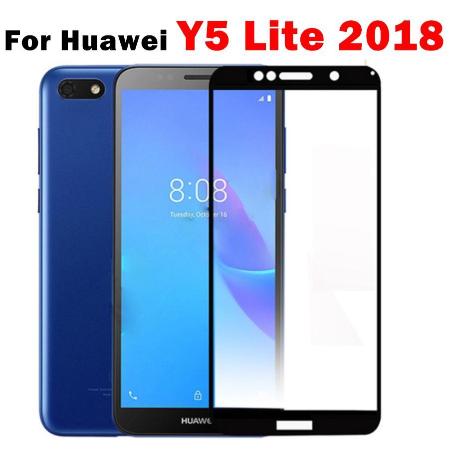 screen protector on for huawei y5 lite protective glass huavei y 5 prime  2018 y7 pro 2019 safety glas y5 5y y 7 7y light huaweii