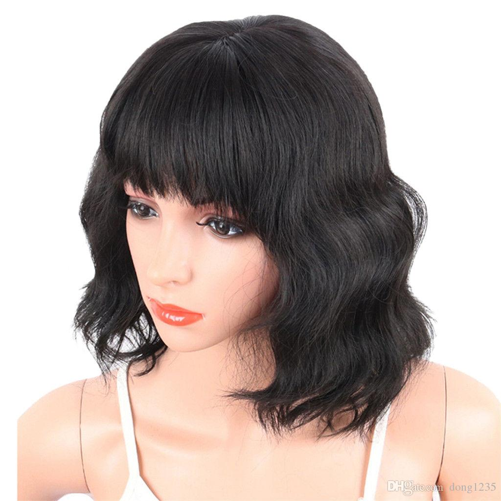 b3f9c2dafed87f Women'S Girl Chic Cute Short Curly Wavy Hair Full Wig Cosplay Party Wigs  ≫≫≫≫≫New High Quality Fashion Picture Wig Women Wigs Curly Wig From  Dong1235, ...