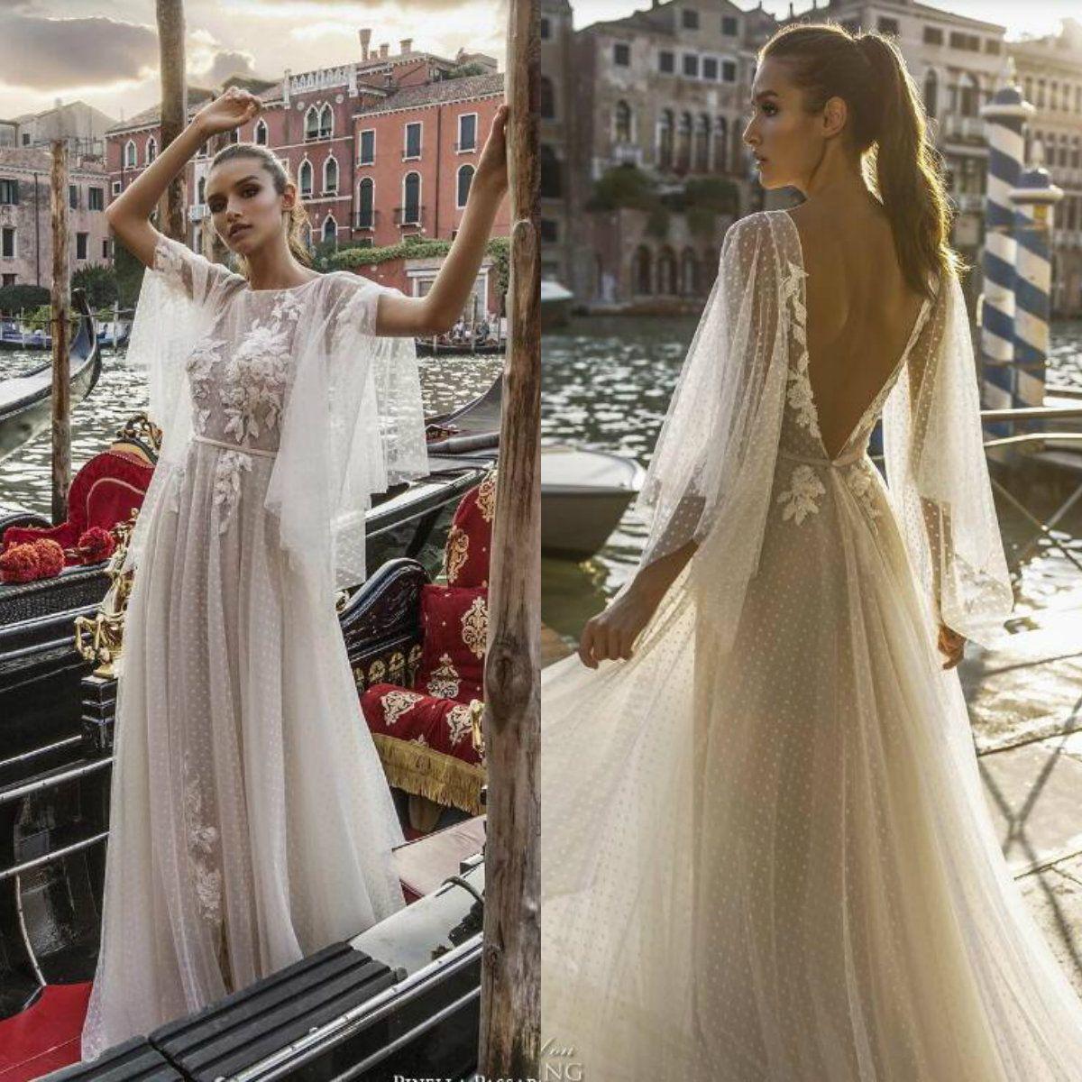 54534932de Pinella Passaro 2019 Vintage Wedding Dresses Backless Long Sleeve ...
