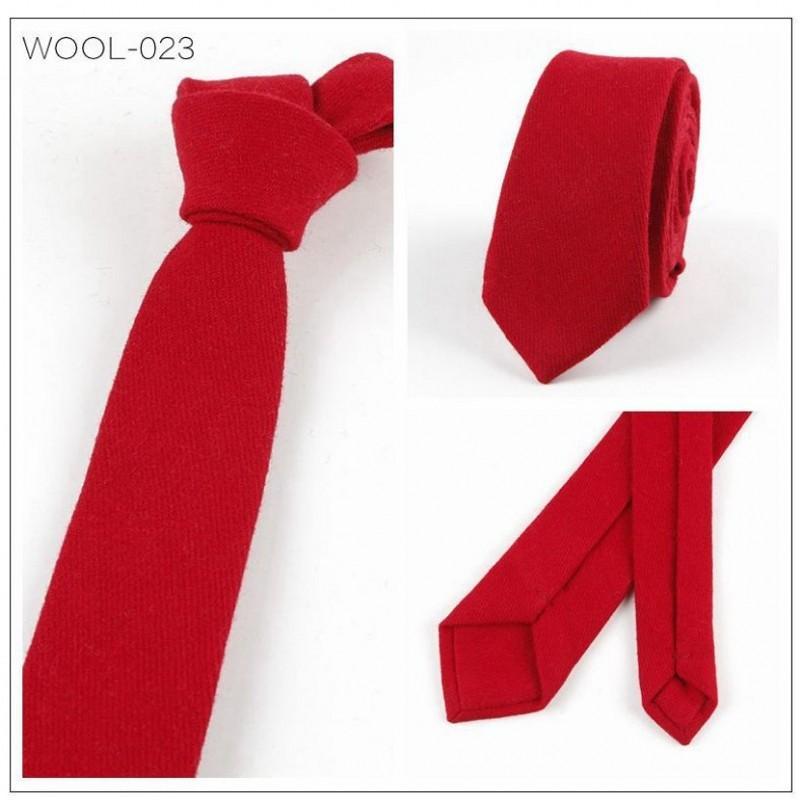 cd6259e23c8e7 Ikepeibao Rouge Mode Cravate Casual Laine Coton Cravate Slim ...