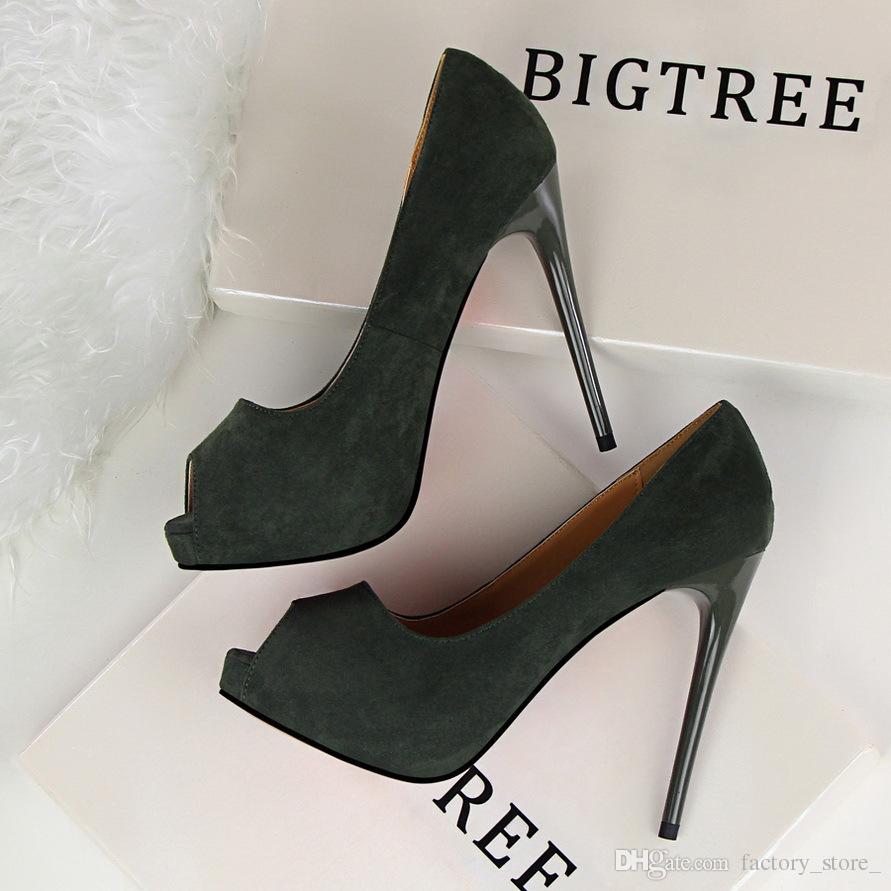b5eb22e30 Compre Extrema Sapatos De Salto Alto Sapatos De Escritório Mulher Sexy  Sapatos De Marca Mulheres Sapatos De Salto Alto Plataforma Saltos Sapatos  De Luxo ...