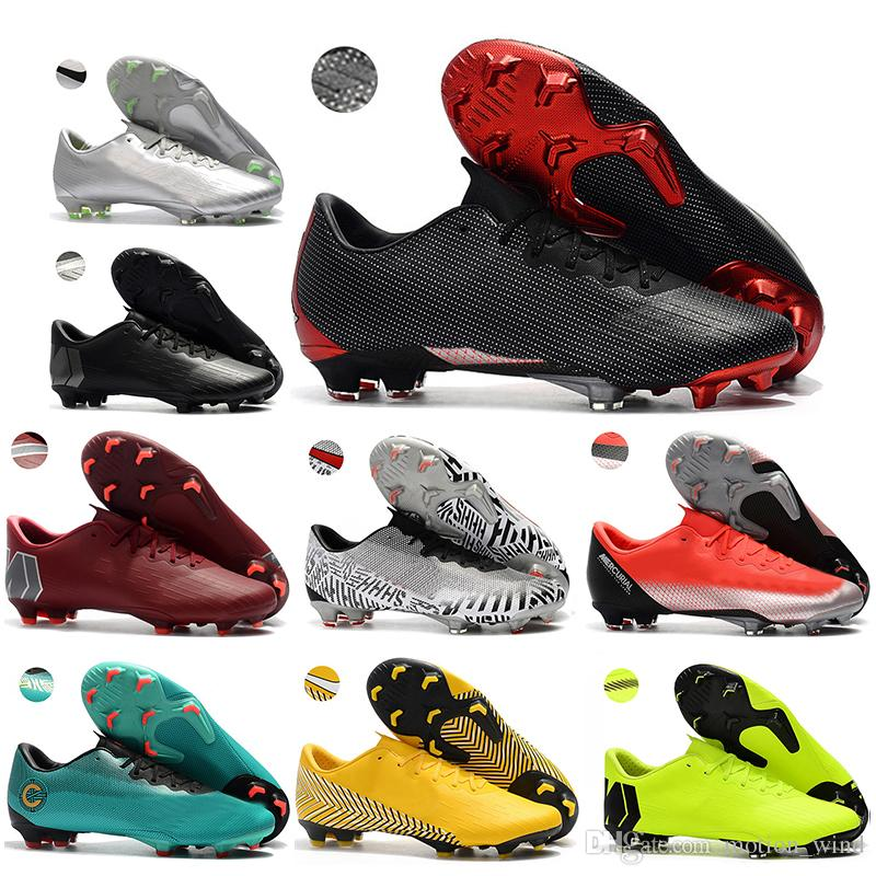 99f400baf New Arrived Mens Low Ankle Football Boots CR7 Mercurial Vapor XII PRO FG  Soccer Shoes Neymar Superfly VI ACC Outdoor Soccer Cleats Mercurial Vapor FG  CR7 ...