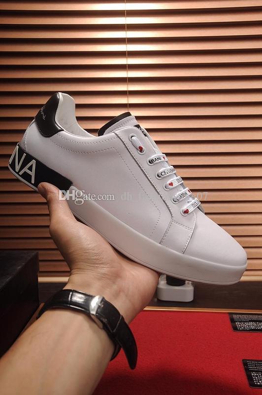 Ace Portofino Baskets Dolce Haute Imprimé Gabbana Hommes De En Chaussures Cuir Blanc 2019 Femmes Dg Qualité Sneakers H2E9DI